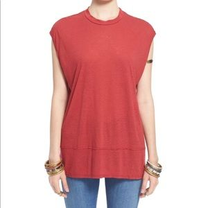Free People Red Top Womens Size Large